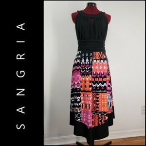 Sangria Woman Sleeveless Halter Tunic Dress Sz 14